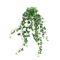"""31.5"""" Green and White Ivy Spring Floral Hanging Bush"""