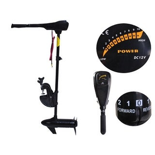 "Costway New 55lbs Freshwater Transom Mounted Trolling Motor 36"" Shaft - Black"