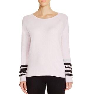 Life Nature Love Womens Crewneck Sweater Striped Raglan Sleeves