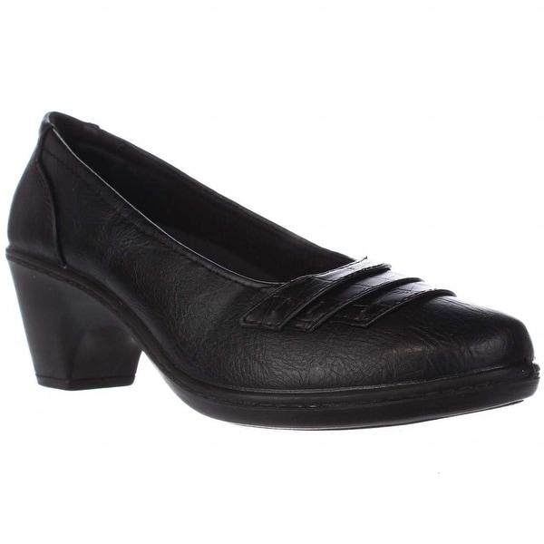 Easy Street Fiona Casual Pumps - Black/Black Croc
