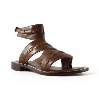 Bernardo Womens Brown Ankle Strap Flats Size 5