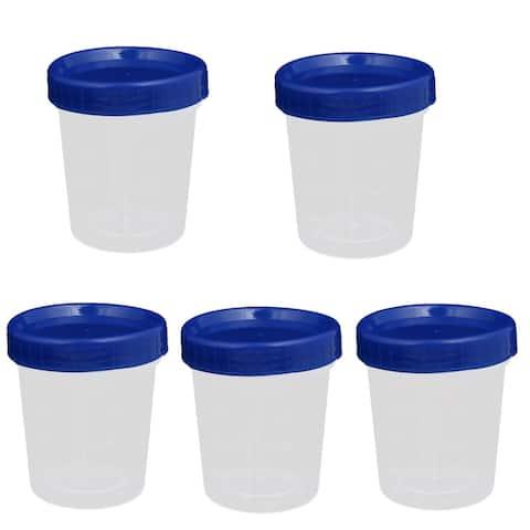 100ml PE Plastic Blue Cap Experiment Storage Bottle 5pcs