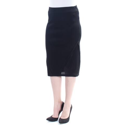 RACHEL ROY Womens Black Mesh Knee Length Pencil Skirt Size: M