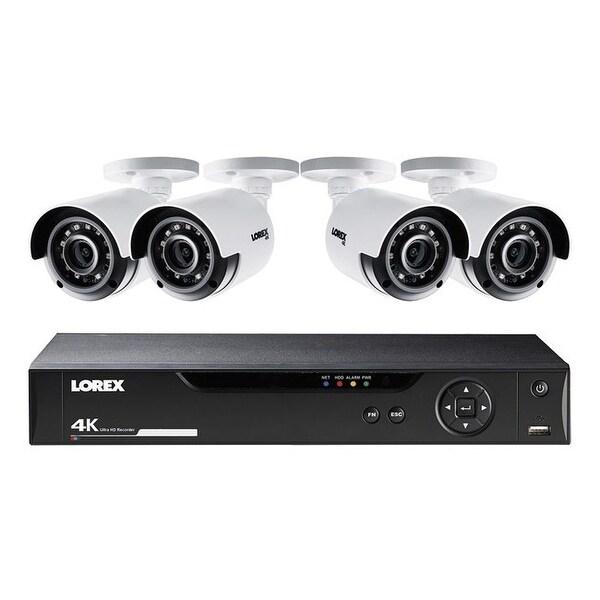 Lorex lhv51081t4kb 8-channel 4k hd 1tb dvr with four 4k bullet security cameras