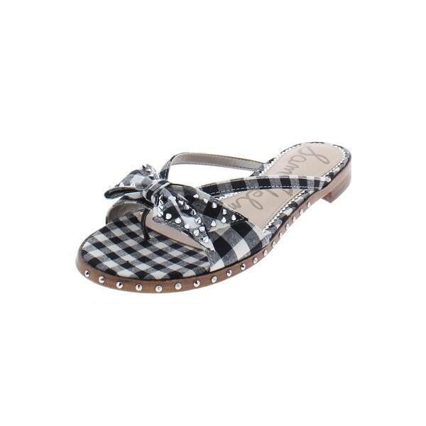 d7c02bc24e5e Sam Edelman Womens Dariel Slide Sandals Gingham Studded - 8.5 medium (b