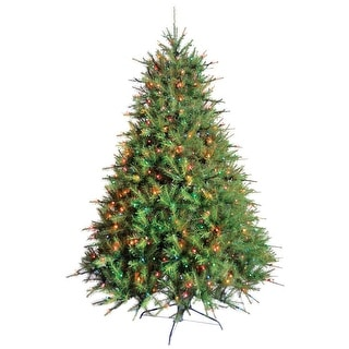 Greenfields BRHO900208AC2 Prelit Deerfield Artificial Tree, 7', Green