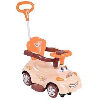 Costway 3 in 1 Kids Ride On Push Car Sliding Swinging Stroller Toddler Wagon w/ Handle