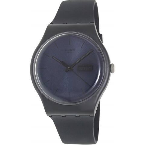 Swatch Unisex SUOB702 'Black Rebel' Black Silicone Watch