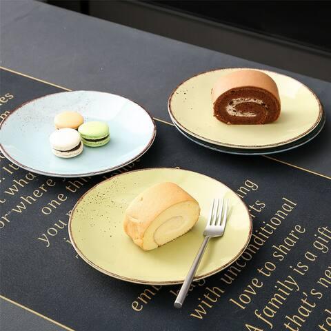 vancasso Navia Rustic Vintage Dinner Plates Dessert Plate (Set of 4)