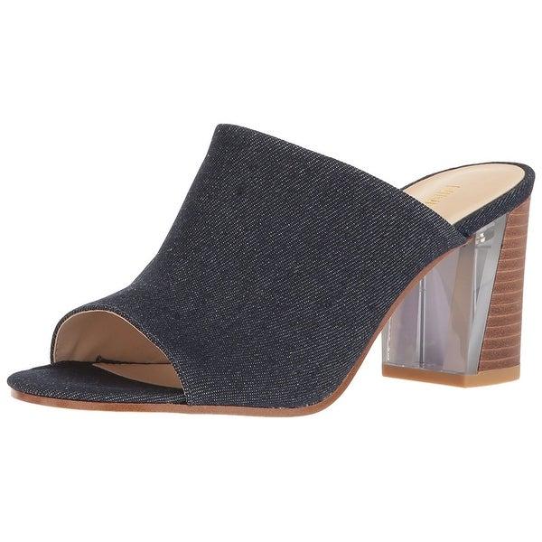 Nine West Womens Gemily Fabric Open Toe Formal Mule Sandals