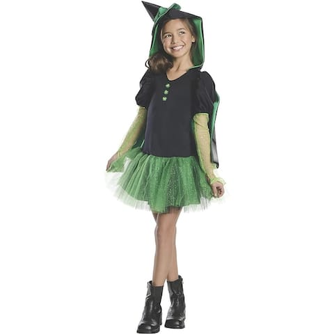 Wizard Of Oz Wicked Witch of The West Child Costume Hoodie Dress - Green