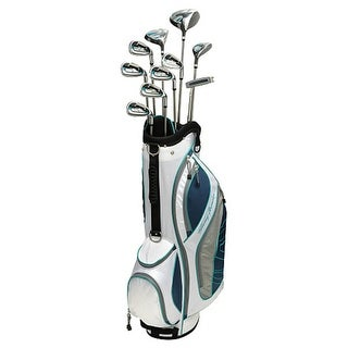 New Tommy Armour Women's AXIAL 14-Piece Complete Golf Set + Stand Bag RH - white / black / teal