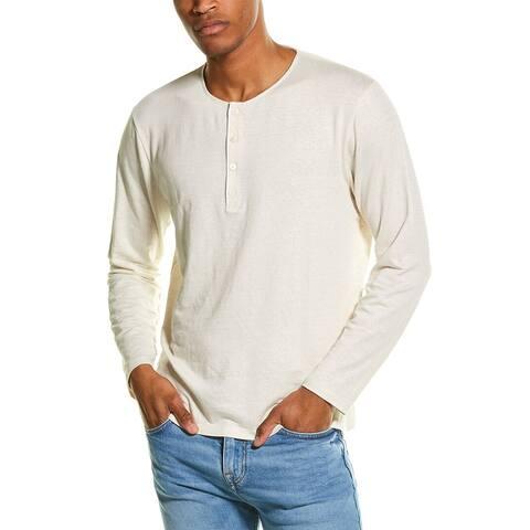 Theory Steg Linen-Blend Henley Shirt