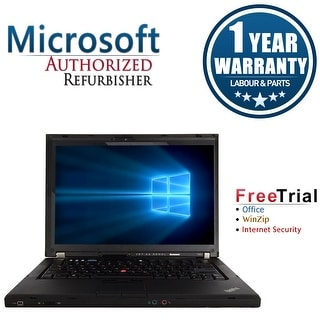"Refurbished Lenovo ThinkPad T400 14.1"" Laptop Intel Core 2 Duo P8400 2.26G 4G DDR3 160G DVDRW Win 7 Pro 64 1 Year Warranty"