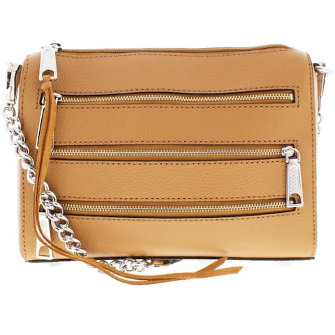 Rebecca Minkoff Mini 5 Zip Women's Small Convertible Crossbody Handbag - Desert Tan