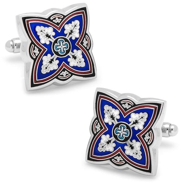 Blue Spanish Bloom Cufflinks