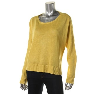 Eileen Fisher Womens Linen Ribbed Trim Pullover Sweater - XS