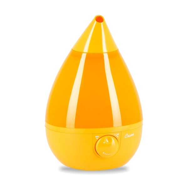 Crane Drop Ultrasonic Cool Mist Humidifier,Filter-Free, Orange