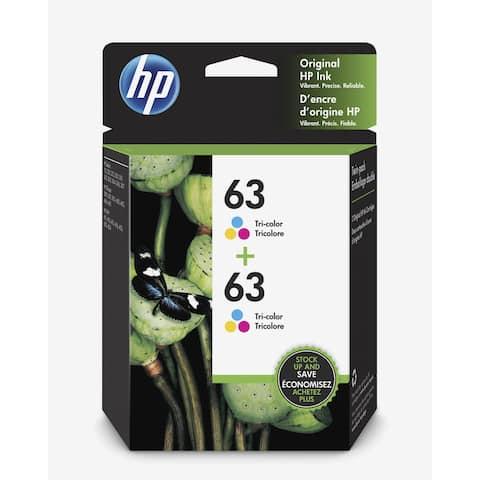 HP 63 Tri-Color 2-pack Original Ink Cartridges 1VV67AN - Multi-Color