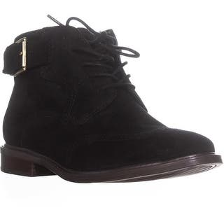 a858124726cc Tommy Hilfiger Julea Lace Up Buckle Ankle Booties