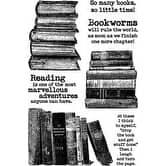 """Bookworm - Darkroom Door Cling Stamps 7""""X5"""""""
