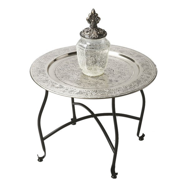 "Offex Traditional Round Tray Table 16"" Height"