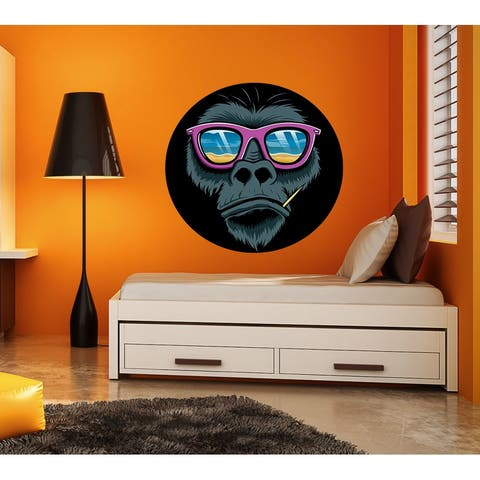 Chilling Monkey Wall Decal, Chilling Monkey Wall sticker, Chilling Monkey wall decor