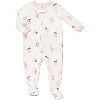 Carter's Little Girls' Footed Fleece Sleeper - Fairy Print- 2T