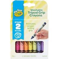 Crayola My First Washable Tripod Grip Crayons-16/Pkg