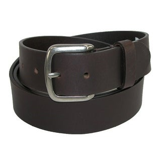 Dickies Men's Big & Tall Leather 40mm Cut Edge Bridle Belt