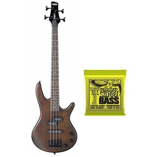 Ibanez GSRM20B Mikro 3/4 Size Bass Guitar (Walnut Brown) Plus Extra Bass Strings