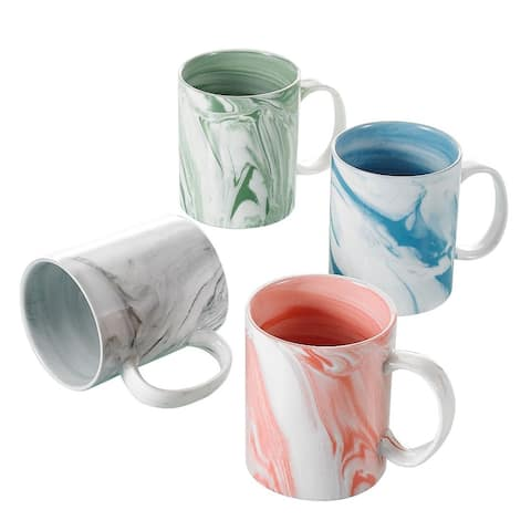 Panbado Humo 12Oz Ceramic Multi Color Mugs Set of 4