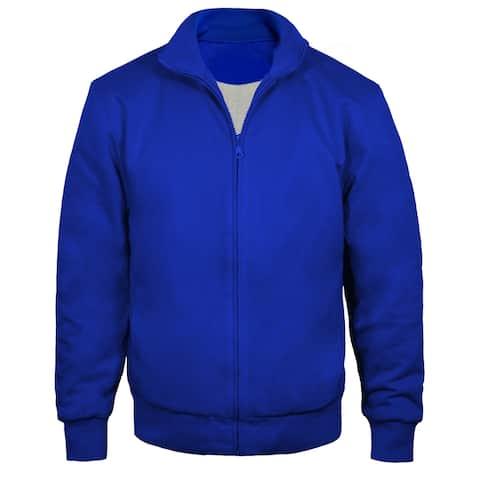 Victory Outfitters Men's Standing Collar Fleece Zip Jacket