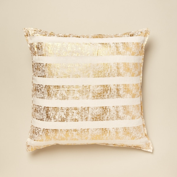 Kelsey Metallic Accent Pillow. Opens flyout.