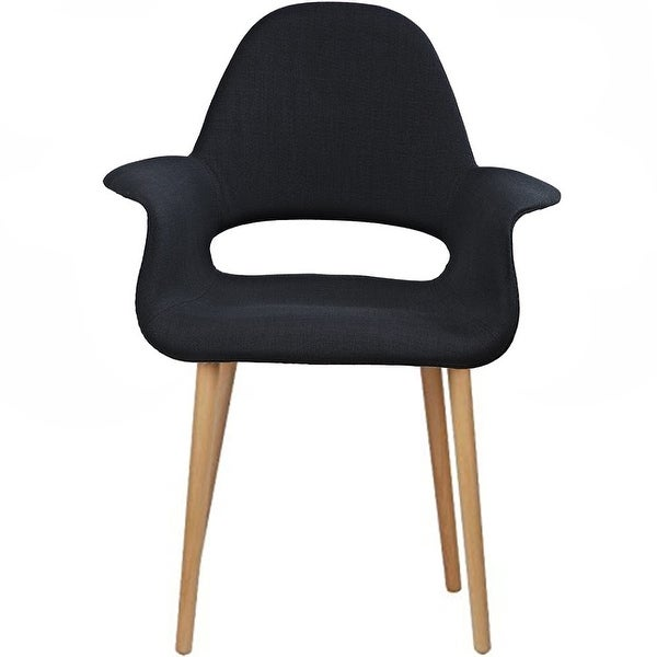 2xhome   Set Of 2, Black Modern Organic Chairs With Arm Armchairs Solid  Wood Natural Legs Dining Chairs Living Room Restaurant   Free Shipping  Today ...
