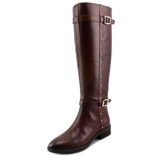Vince Camuto Preslen Women Round Toe Leather Brown Knee High Boot