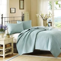 100 Percent Polyester Coverlet Mini Set, Queen, Sky