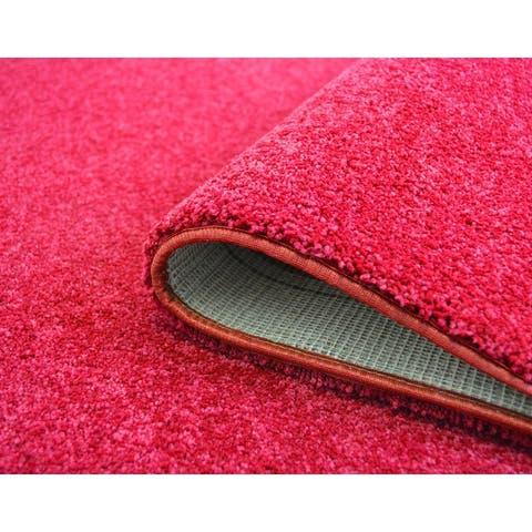 Gemstone Luxury Bound Solid Color Carpet Area Rug