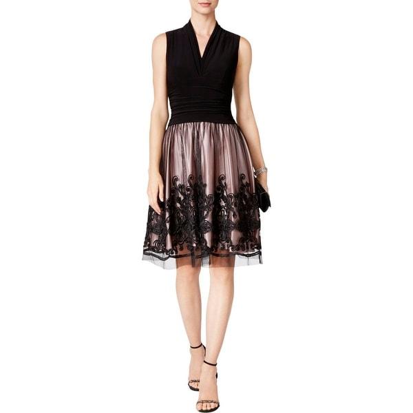 S.L Fashions Womens Sash Waist Party Dress