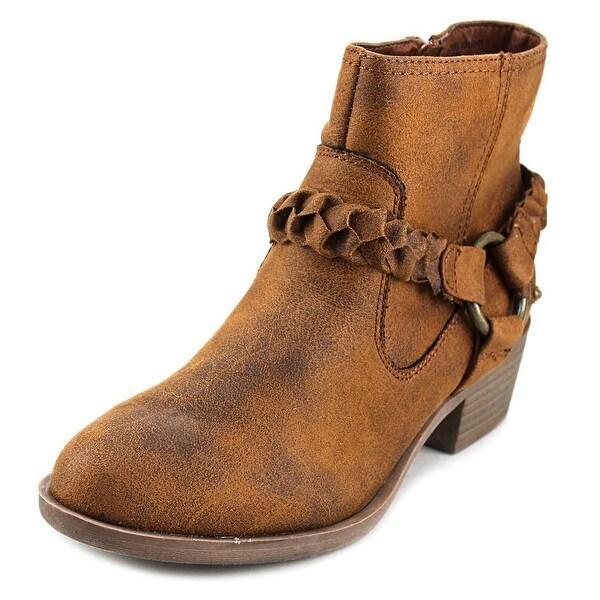 XOXO Glorius Women Round Toe Canvas Tan Ankle Boot
