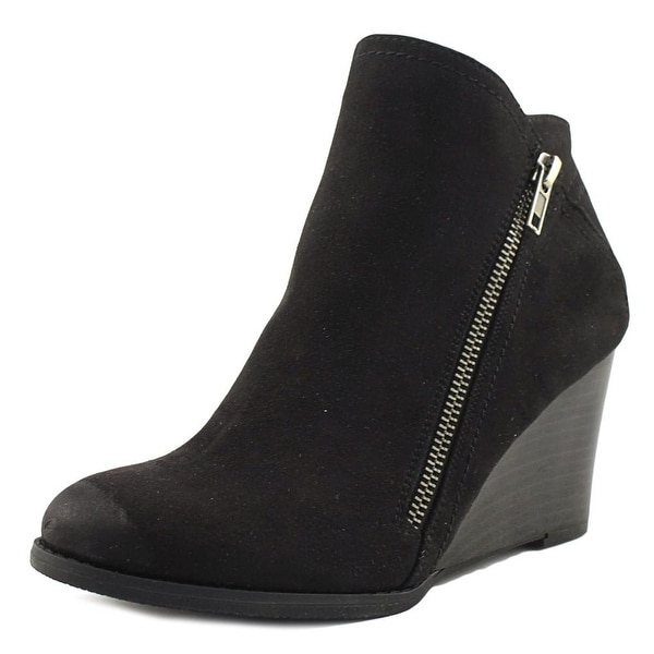 Hokus Pokus Up Hill Women Round Toe Canvas Black Ankle Boot