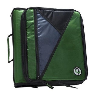 Case It Universal Laptop Zipper Binder with O-Ring, Kelly Green