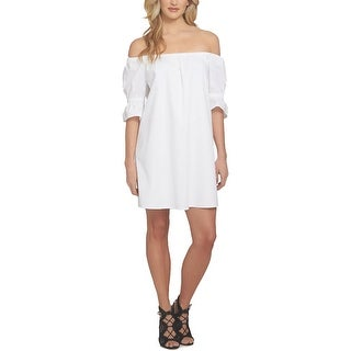 1.State Womens Casual Dress Smocked Off The Shouldet