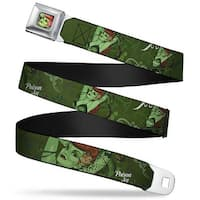 Poison Ivy Pin Up Face Full Color Poison Ivy Pin Up Poses Greens Webbing Seatbelt Belt