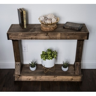 Link to Barb Small Rustic Solid Wood Console Table by Del Hutson Designs Similar Items in Wall Sculptures