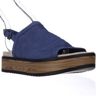 Naya Uno Casual Slingback Platform Sandals - Blue