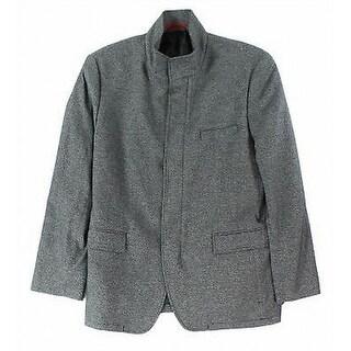 Alfani NEW Gray Mens Size Large L Slim-Fit Hybrid Two Button Sport Coat