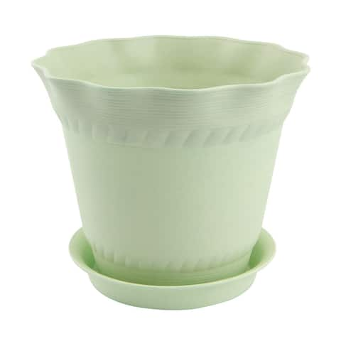 Home Balcony Plastic Plant Aloes Cactus Flower Planting Pot Flowerpot Army Green