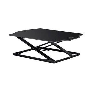 "Monoprice Ultra-Slim Sit-Stand Table Desk Converter, Black Adjustable from 1.2""-15.7"""