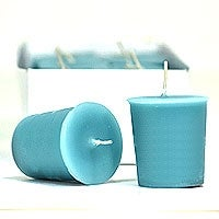 Blue Lagoon Votive Candles Votive Candles Pack: 12 per box 1.75 in. diameter x 2 in. tall